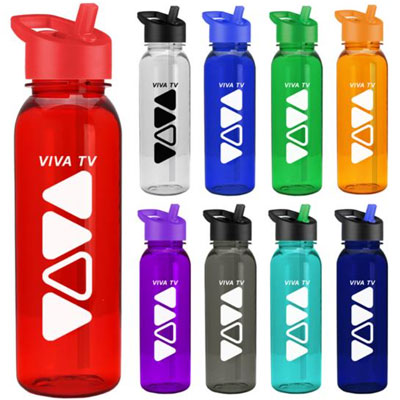 24 oz. Tritan Outdoorsman Water Bottles - Flip Straw Lid