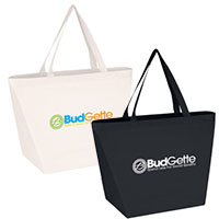 Non-Woven Shopper Tote Bags w/ Antimicrobial Additive