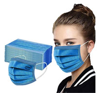 Dark Blue Disposable Face Masks - 3 Layers