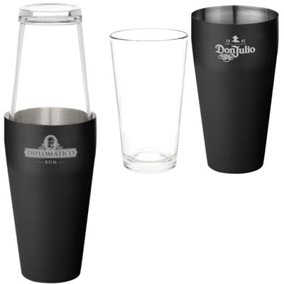 Glass & Stainless Steel Boston Cocktail Shakers - 26 oz.