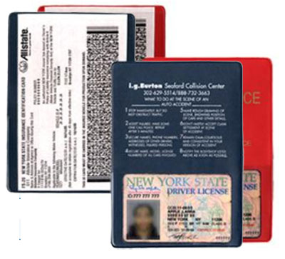 Insurance and Registration Holders w/ Copy Guard Vinyl