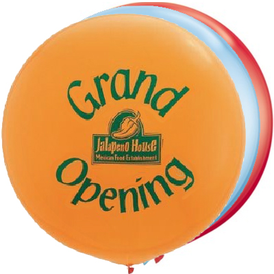 3' Round Giant Advertising Balloon Standard Colors