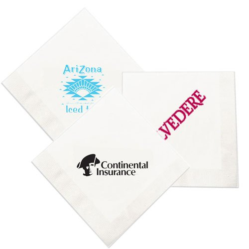 1-Ply White Cocktail Napkins