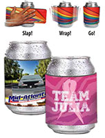 Slap Wrap Beverage Holders - Full Color/Low Minimum