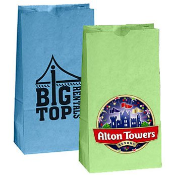 4.25 x 8.25 Colored Kraft Popcorn Bags
