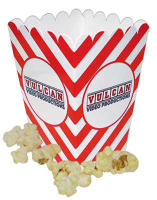 2 x 4 Mini Scoop Striped Popcorn Boxes