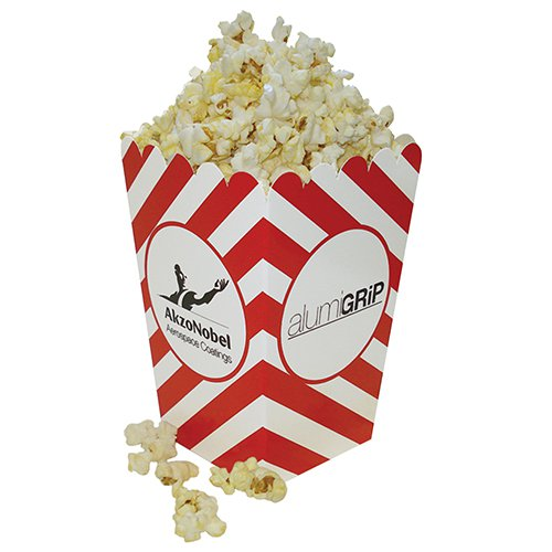 4 x 6 Small Scoop Striped Popcorn Boxes