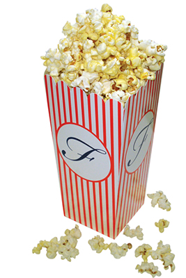4 x 8 Large Scoop Striped Popcorn Boxes