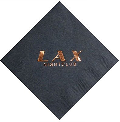 2-Ply Black Cocktail Napkins