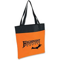Orange and Black Shoppe Tote Bags