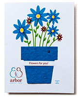 4 x 5.25 Plantable Greeting Cards with Seeded Plant Pot