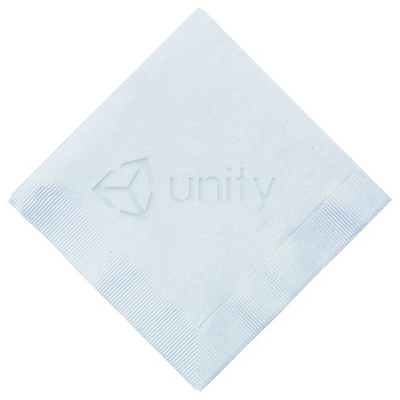 3-Ply Debossed White Cocktail Napkins