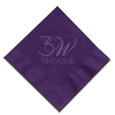 2-Ply Debossed Colored Cocktail Napkins