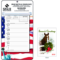 Weekly Memo Calendar - Patriotic Season's Greetings