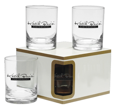 14 oz. Set of 4  Premium Double Old Fashion Glasses