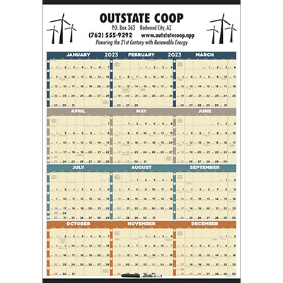 Time Management Span-A-Year Calendars with Marker