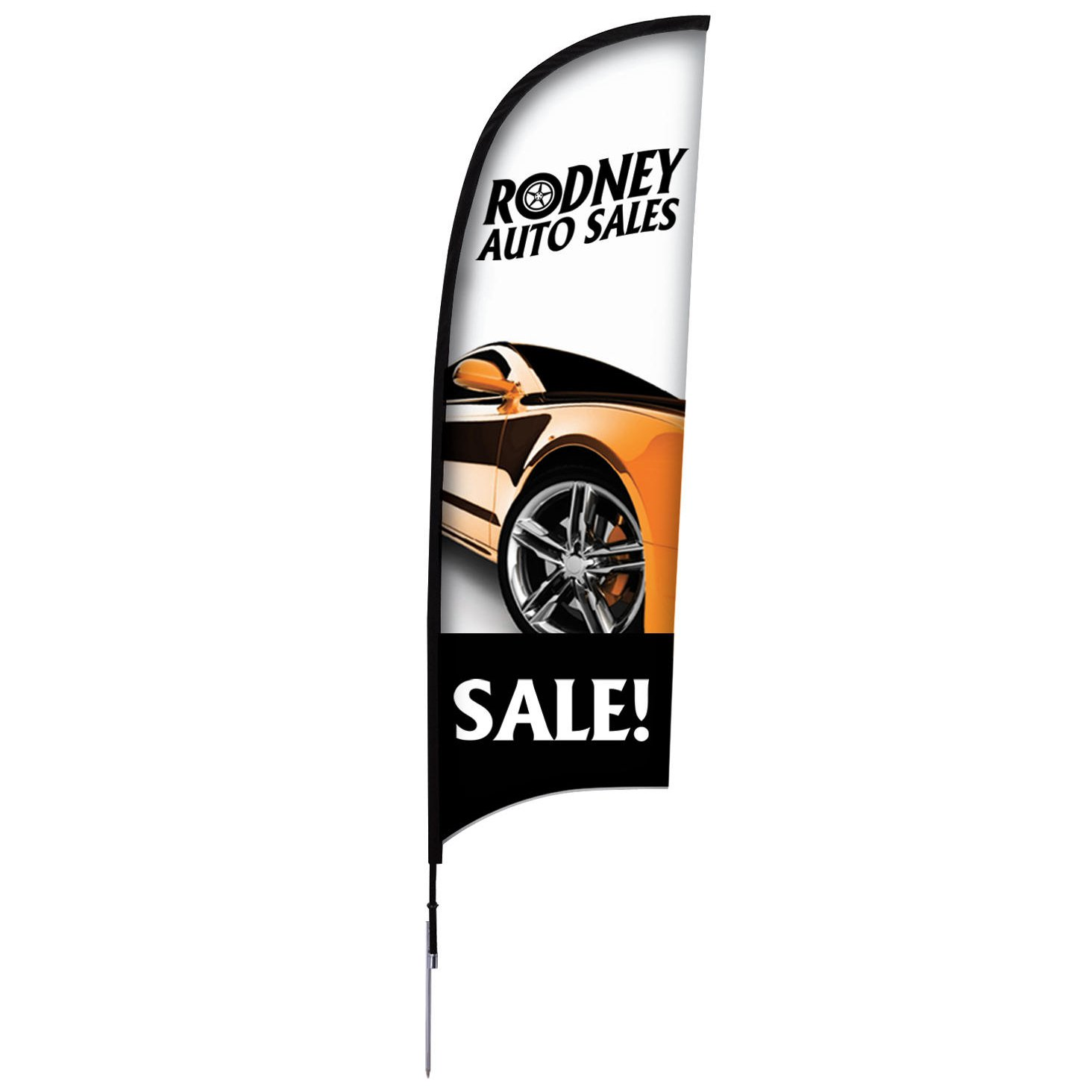 9' Razor Sail Sign Banners, Complete Kit