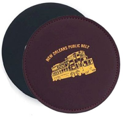 Round Fine Leather Coasters