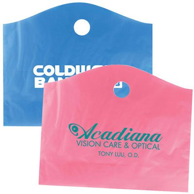 22 x 18 Recycled Frosted Super Wave Die Cut Handle Bags