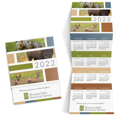 Wildlife Trifold Calendar Cards