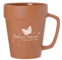 14 oz. Terra Cotta Flower Pot Mugs