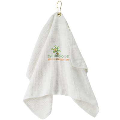 "25"" x 16"" Embroidered Waffle Golf Towel"