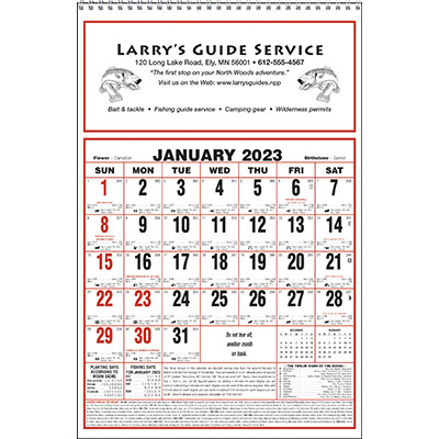 Large Almanac Calendars