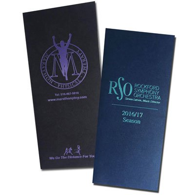 "Two Pocket 4"" x 9"" Foil Stamped Folders"