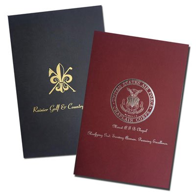 "Two Pocket 5-7/8"" x 9"" Foil Stamped Welcome Folders"
