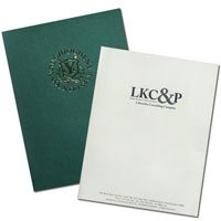 9 x 12 Foil Stamped Presentation Folders - Two Pockets