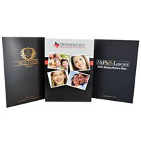 9 x 12 Right Pocket Foil Stamped Presentation Folders
