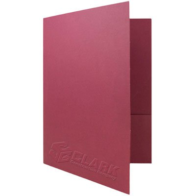 9-7/8 x 12 Embossed Expandable Folders - Two Pockets