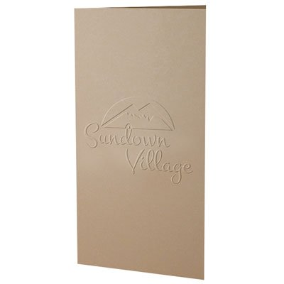 "Two Pocket 4"" x 9"" Embossed Folders"