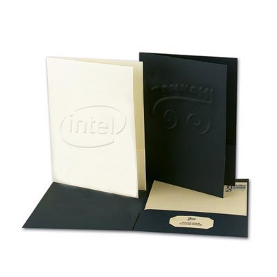 9 x 12 Right Pocket Embossed Presentation Folders