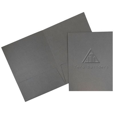 9-9/16 x 12 Embossed Folders -  Reinforced, Two Pockets