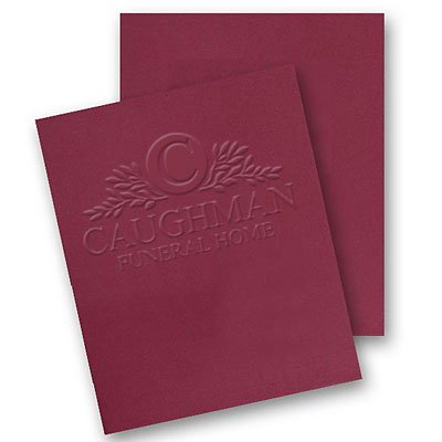9.5 x 12 Embossed Reinforced Expandable Folders - Two Pockets