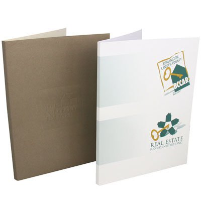 "9 x 12 Printed Box Pocket Folders, 1/2"" Spine"