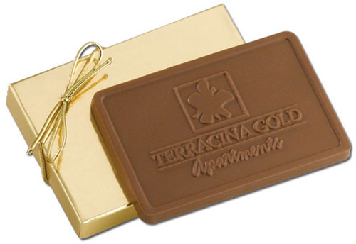5 oz. Kosher Rectangle Chocolate Bars - Mold Imprint