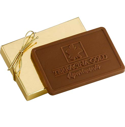 Kosher 3 oz. Rectangle Chocolate Bars with Mold Imprint