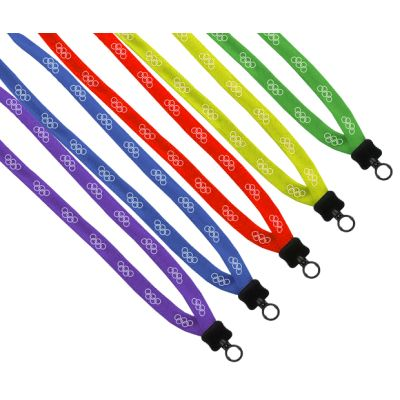 "5/8"" Polyester Lanyards with Plastic Clamshell & O-Ring"