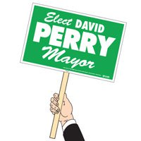 "Rally Signs with Sticks 12-1/4"" x 19-1/4"""