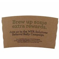 Corrugated Kraft Coffee Sleeves, High Quantity