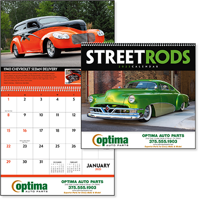 Street Rods 12 Month Car Calendars