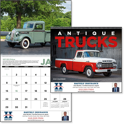Antique Trucks 12 Month Calendars