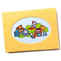5.25 x 4 Oval Window Plantable Cards with Envelopes