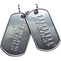 Embossed Military Style Dog Tags