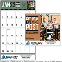 The Saturday Evening Post Block Memo Calendars
