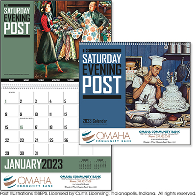 The Saturday Evening Post 12 Month Norman Rockwell Calendars