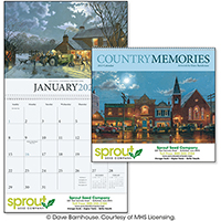 Country Memories 12 Month Art Calendars