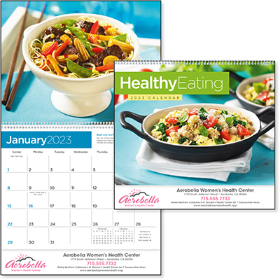 Healthy Eating 12 Month Recipe Calendars